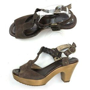 Frye Braided Leather Strappy Sandals